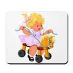 Little Girl Toy Horse Mousepad