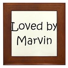 Cute Marvin Framed Tile