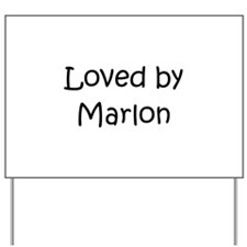 Cute Marlon Yard Sign