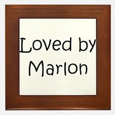 Unique Marlon Framed Tile