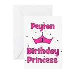 1st Birthday Princess Peyton! Greeting Cards (Pk o