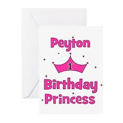 1st Birthday Princess Peyton! Greeting Cards (Pk o
