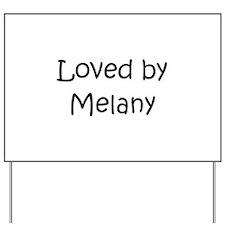 Cute Melanie Yard Sign
