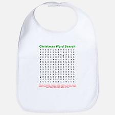 Christmas Word Search Bib