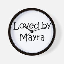 Cute Mayra Wall Clock