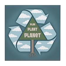 Plan-Plant-Planet Tile Coaster