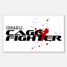 Israeli Cage Fighter Rectangle Decal
