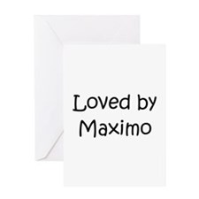 Cute Maximo's Greeting Card