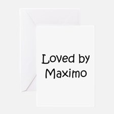 Cool Maximo Greeting Card
