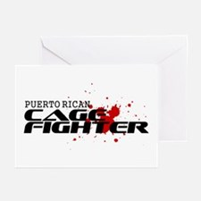 Puerto Rican Cage Fighter Greeting Cards (Pk of 10