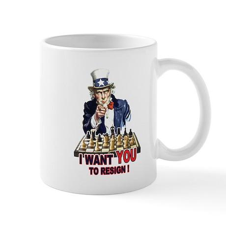 CHESS - Uncle Sam (Resign) Mug