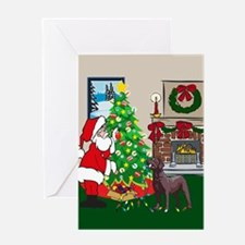 Deck The Halls Chocolate Lab Greeting Card