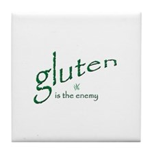 gluten is the enemy Tile Coaster