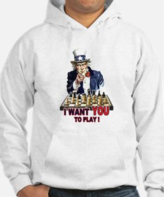 Uncle Sam Plays Chess Hoodie
