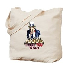 Uncle Sam Plays Chess Tote Bag