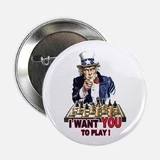 """Uncle Sam Plays Chess 2.25"""" Button"""