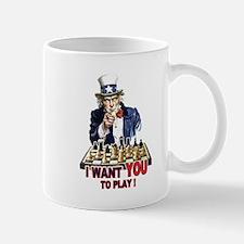Uncle Sam Plays Chess Mug