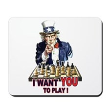 Uncle Sam Plays Chess Mousepad