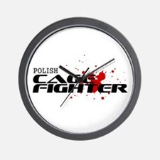 Polish Cage Fighter Wall Clock