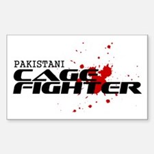 Pakistani Cage Fighter Rectangle Decal