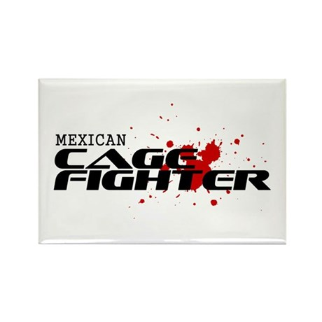Mexican Cage Fighter Rectangle Magnet