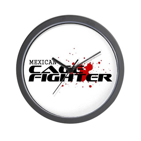 Mexican Cage Fighter Wall Clock