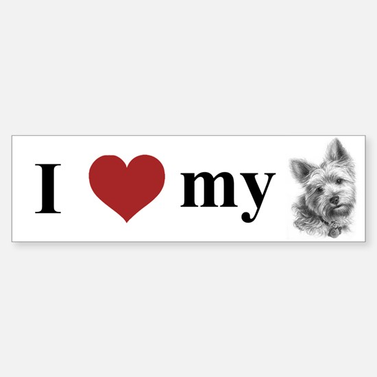 Yorkshire Terrier Bumper Bumper Bumper Sticker