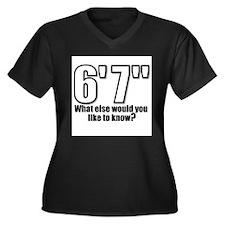 Unique Inch Women's Plus Size V-Neck Dark T-Shirt