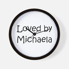 Cute Michaela Wall Clock