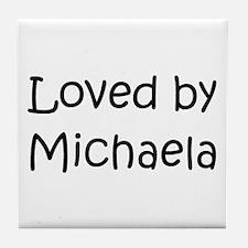 Funny Michaela Tile Coaster