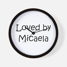 Cute Micaela Wall Clock