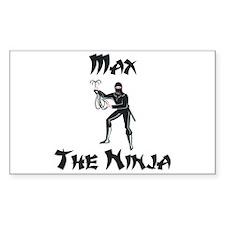 Max - The Ninja Rectangle Decal