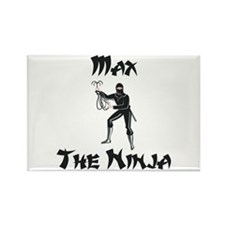Max - The Ninja Rectangle Magnet