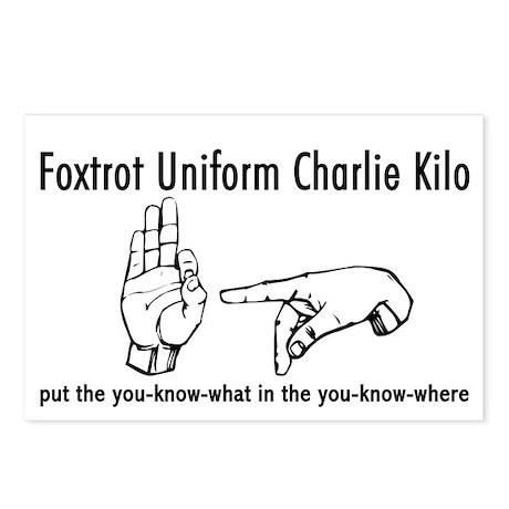 One Foxtrot uniform kilo charlie very horny