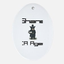 Shane - CIA Agent Oval Ornament