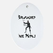 Brayden - The Ninja Oval Ornament
