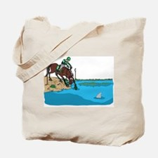 Event Horse Water Jump Tote Bag