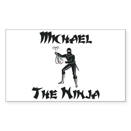 Michael - The Ninja Rectangle Sticker