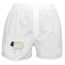 Stick Figure Sheep Boxer Shorts