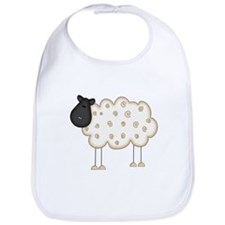 Stick Figure Sheep Bib