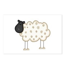 Stick Figure Sheep Postcards (Package of 8)