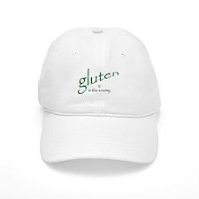 gluten is the enemy Baseball Cap