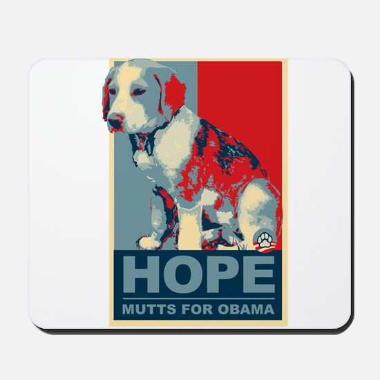 Hope Mutts for Obama, Puppies Mousepad