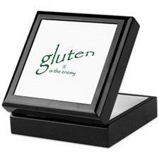 gluten is the enemy Keepsake Box