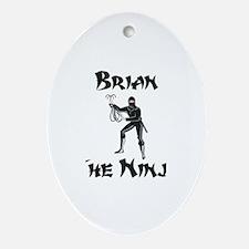Brian - The Ninja Oval Ornament