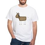 Stick Figure Horse White T-Shirt