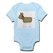 Stick Figure Horse Infant Bodysuit