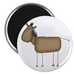 Stick Figure Horse Magnet