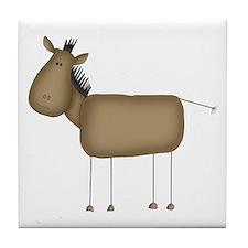 Stick Figure Horse Tile Coaster