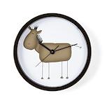Stick Figure Horse Wall Clock